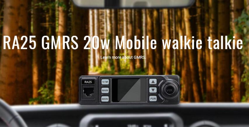 gmrs mobile radio ra25