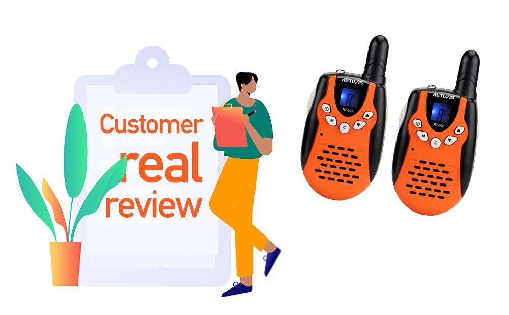 reviews on Kids Toy Retevis RT602 kid's walkie talkie