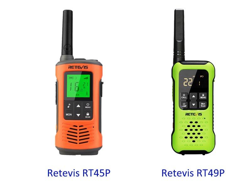 Difference between two waterproof outdoor walkie-talkies
