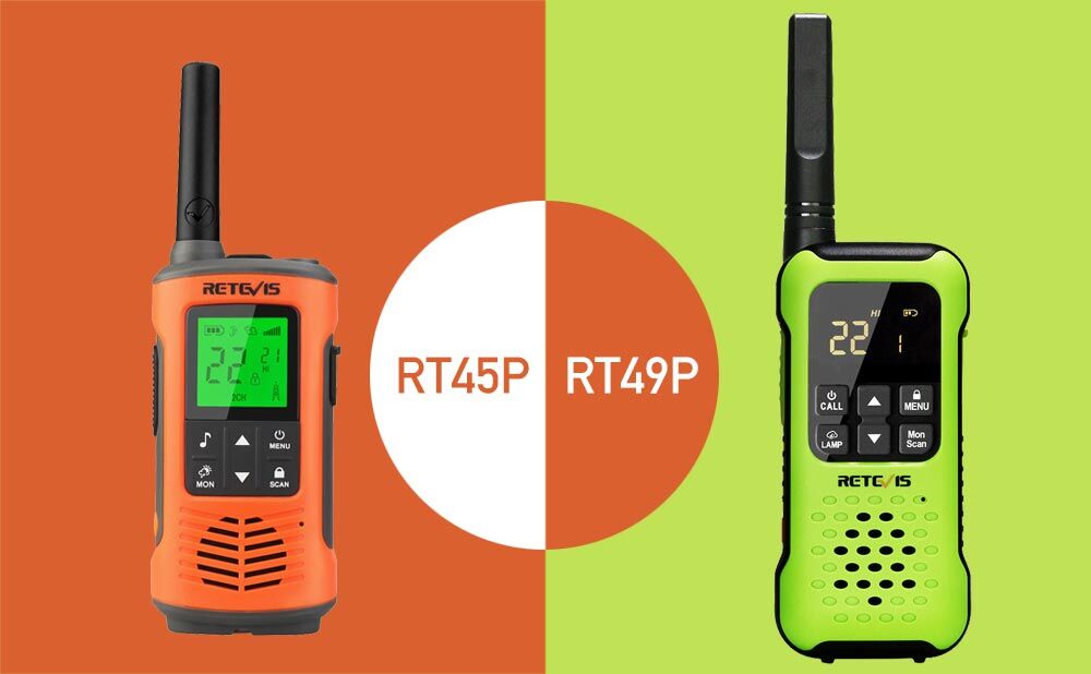 RT45P and RT49P outdoor walkie talkie