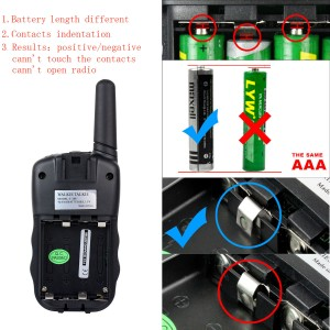 What may cause the walkie talkie does not turn on(2)