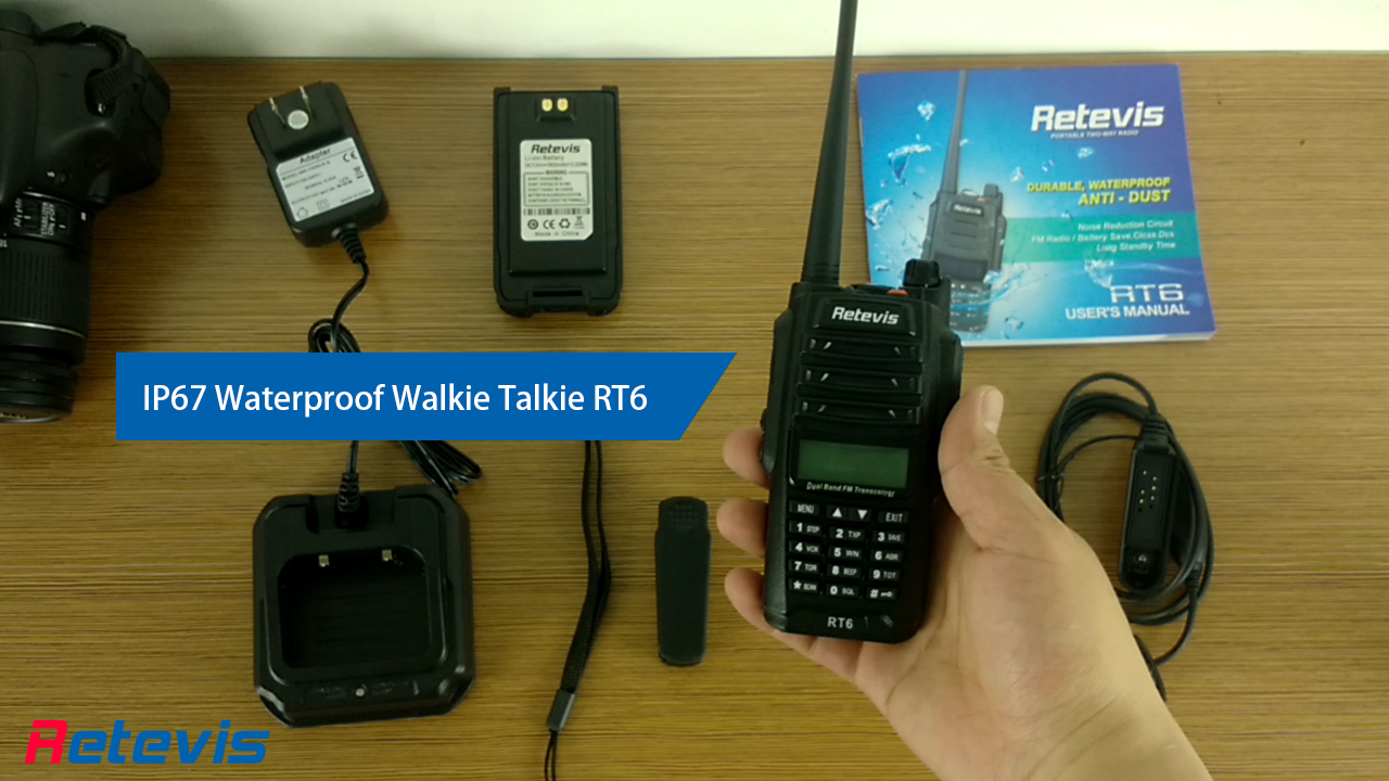 RT6 IP67 Waterproof Anti dust Dual Band Walkie Talkie