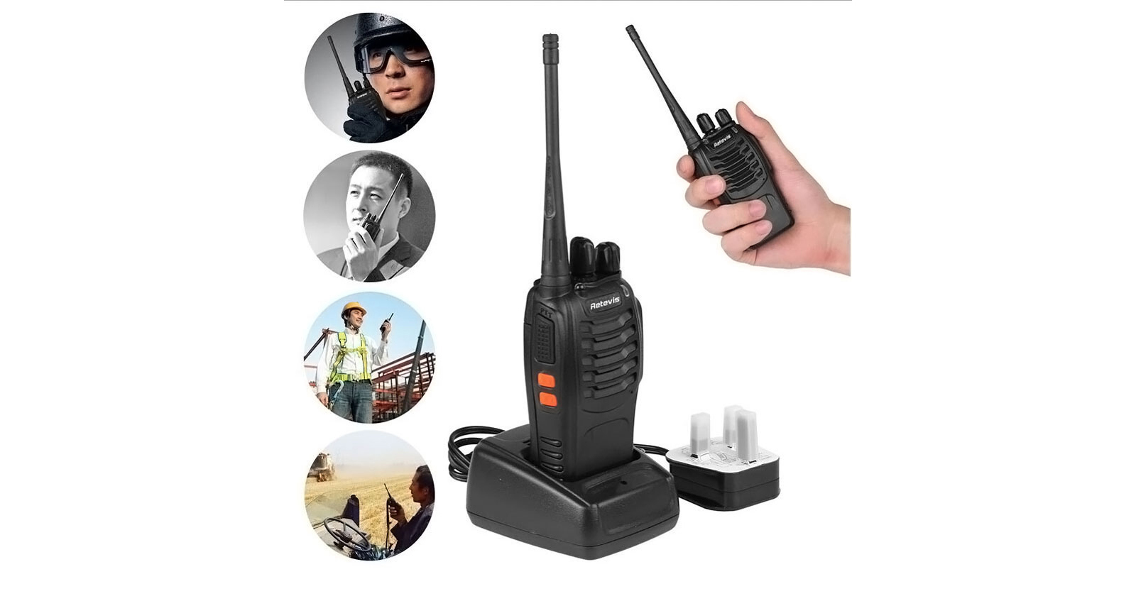 Retevis Walkie Talkie Model Distance Range