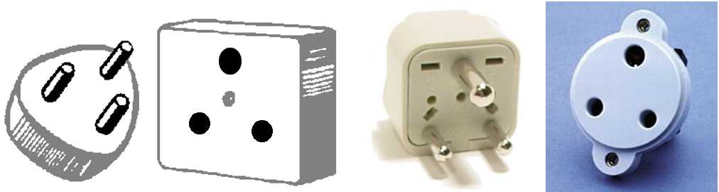 Walkie Talkie Outlet Plugs Type D plug