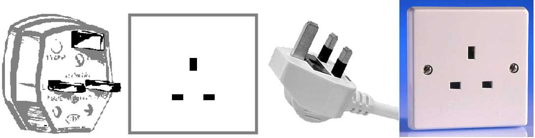 Walkie Talkie Outlet Plugs Type G