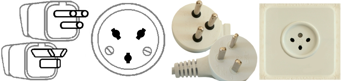 Walkie Talkie Outlet Plugs Type H