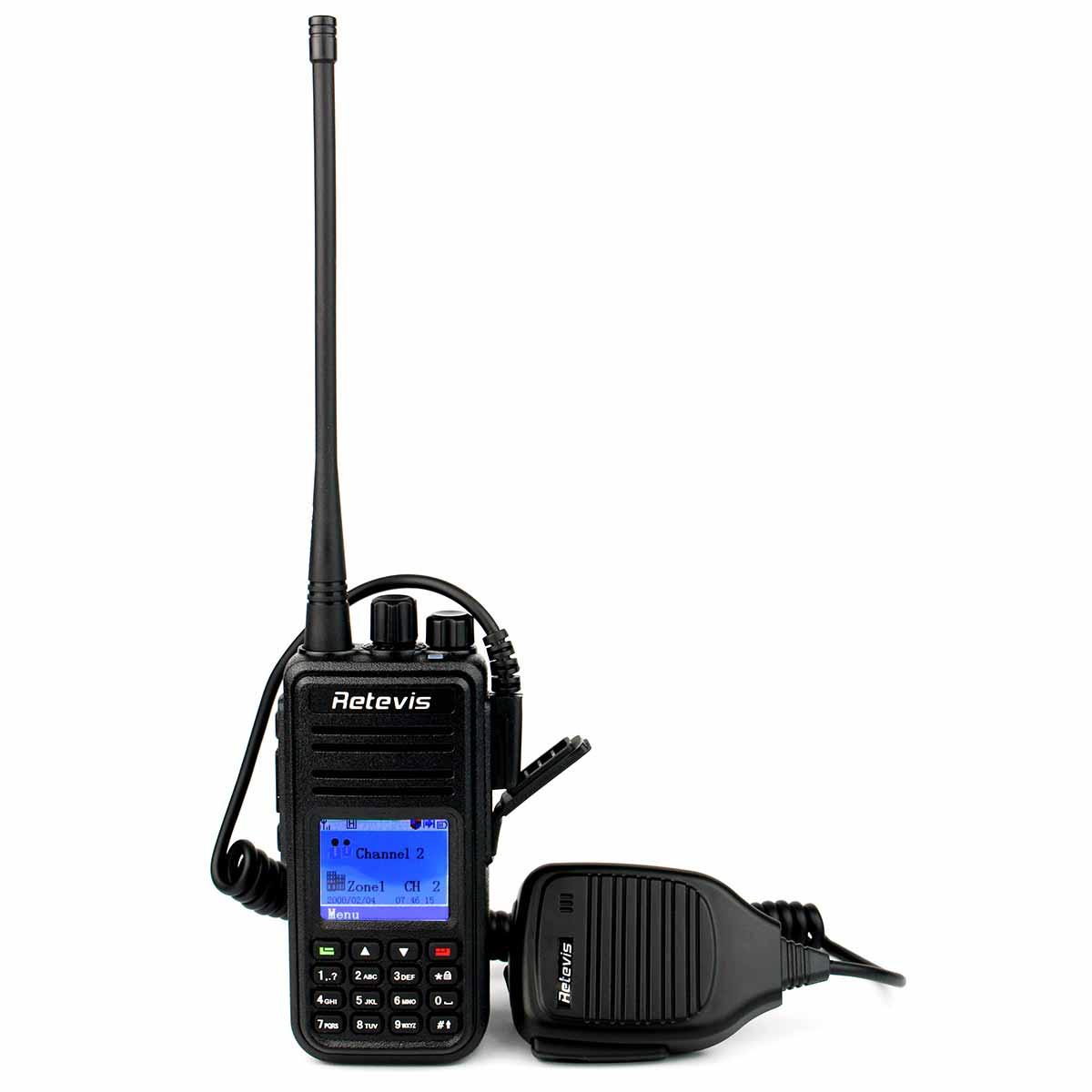 DMR RT3 UHF Digital Radio Walkie Talkie+Handheld PTT Speaker Mic