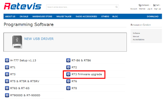 Retevis RT3 software and firmware new version
