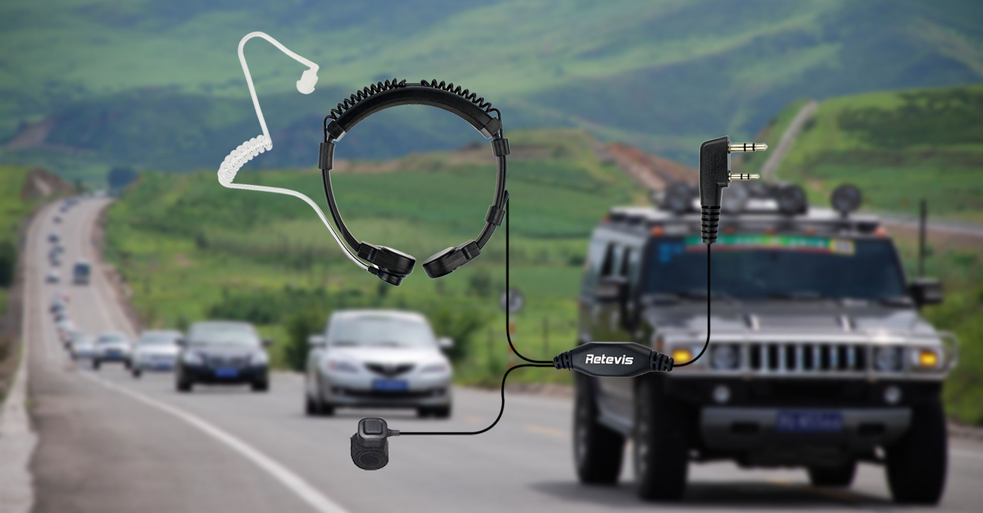 Throat Microphone for self-drive journey