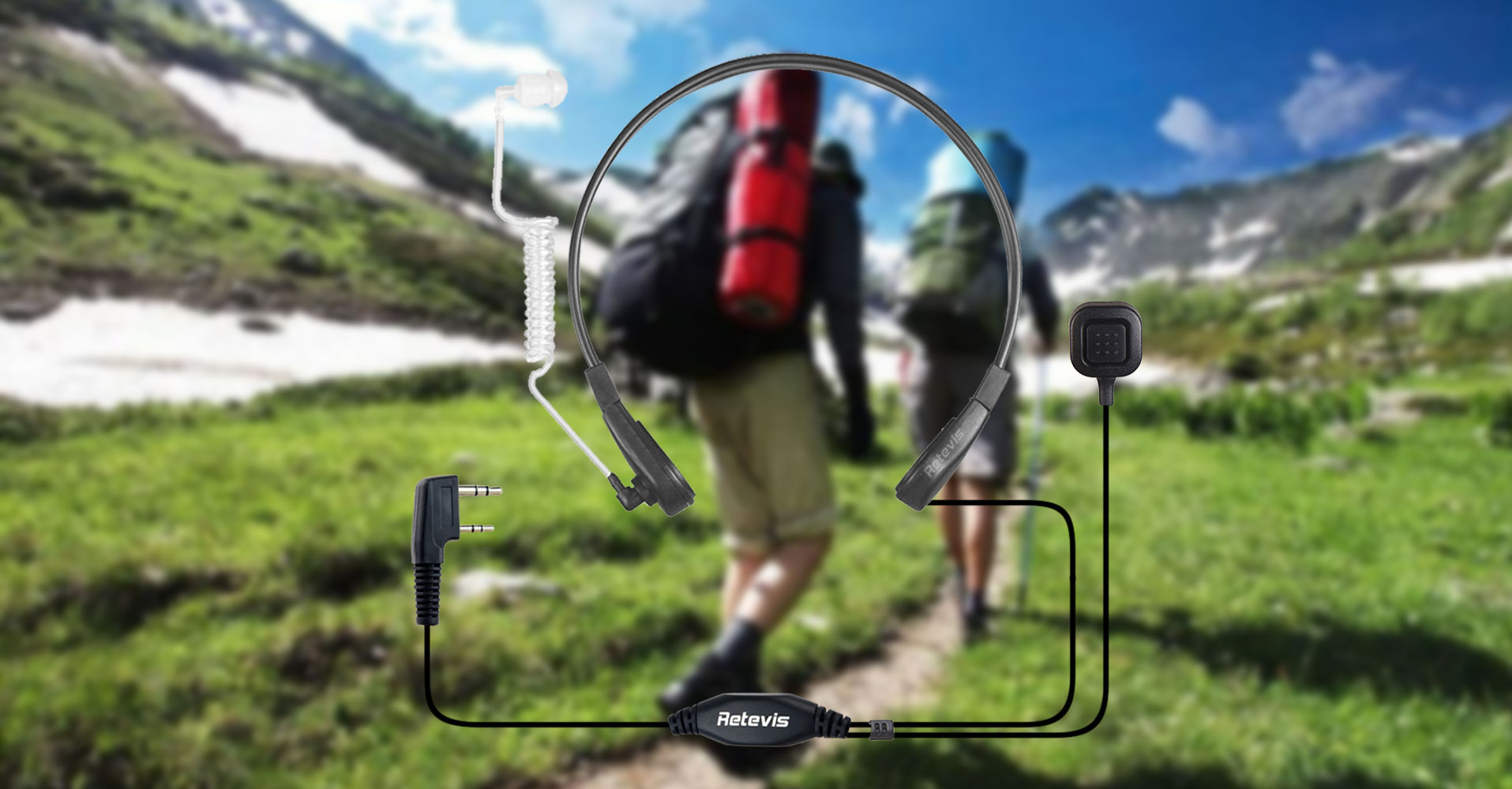 Throat Microphone for hiking or hunting