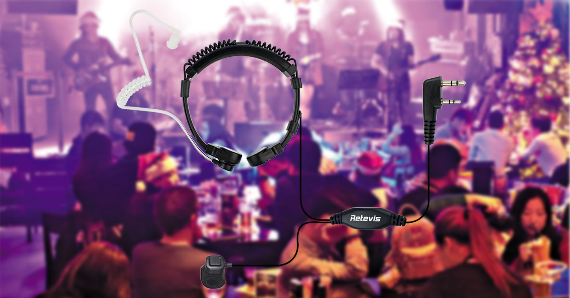 Throat Microphone for noisy clubs