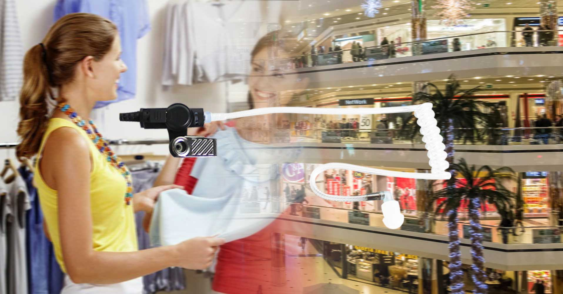 Clear Tube Radio Earpiece for Retail Staff