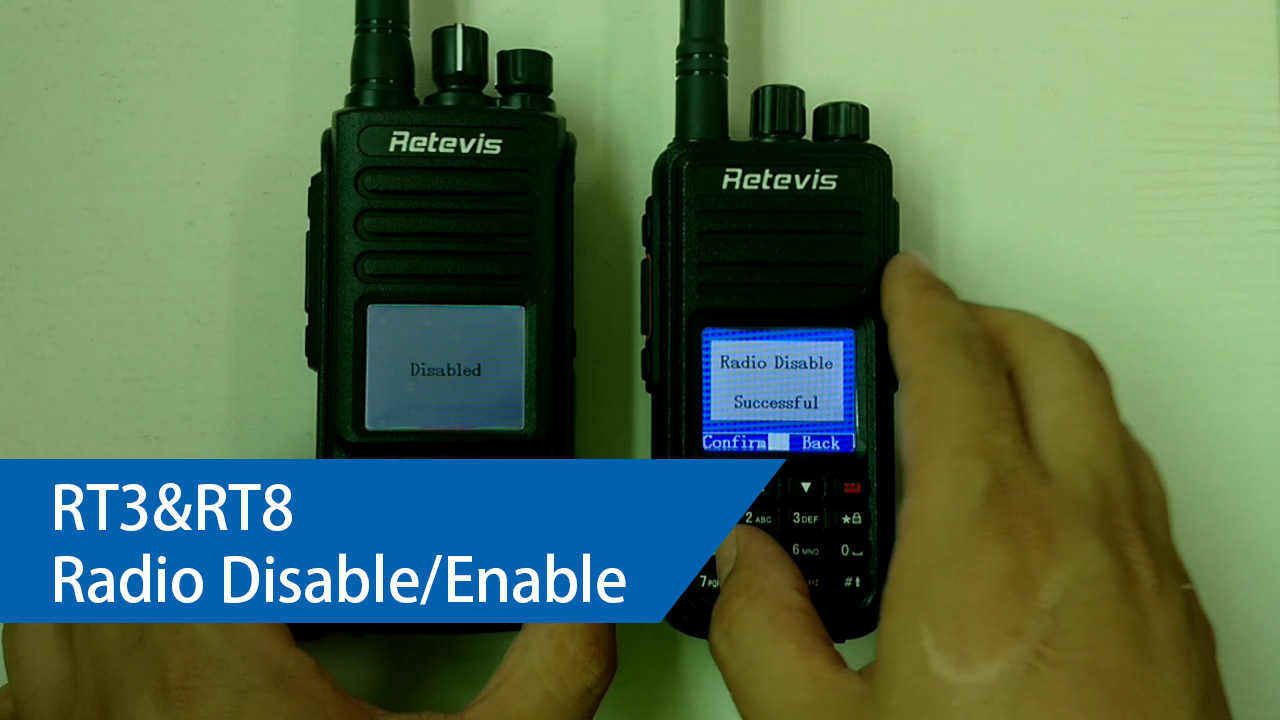 RT3 and RT8 Radio Enable and Radio Disable
