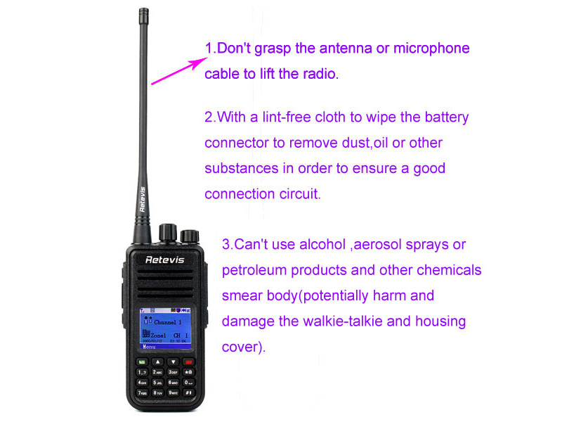 How to use the walkie talkie correctly 123