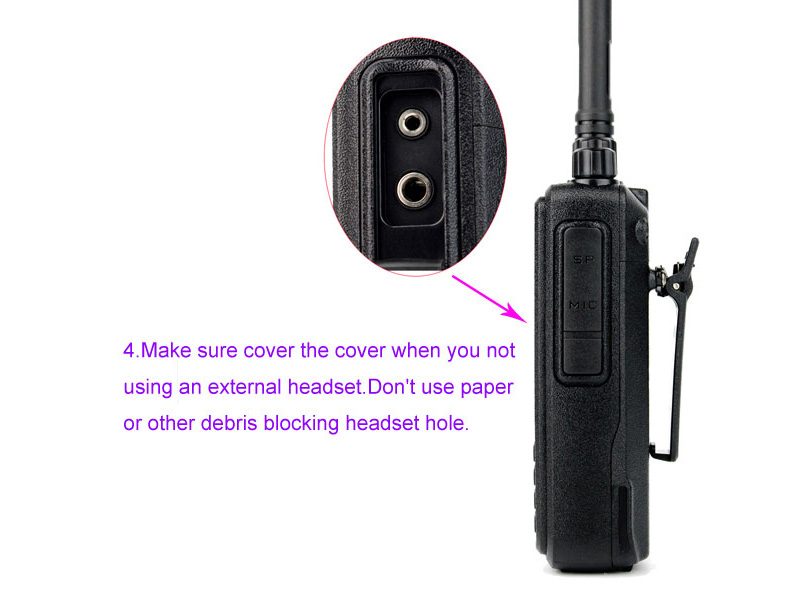 How to use the walkie talkie correctly 4