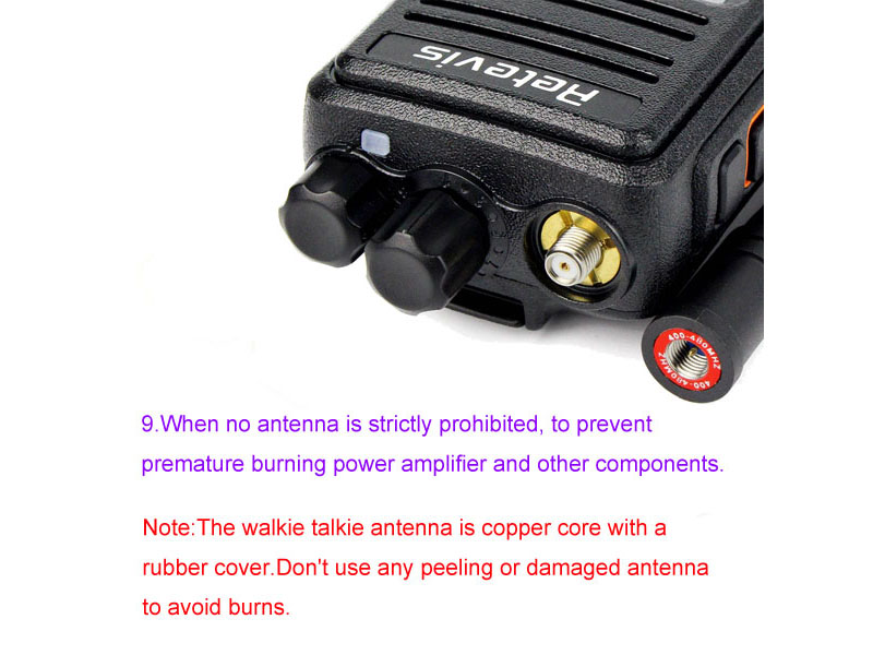 How to use the walkie talkie correctly 9