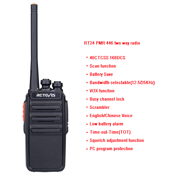Retevis RT24 functions License Free Radio Retevis RT24