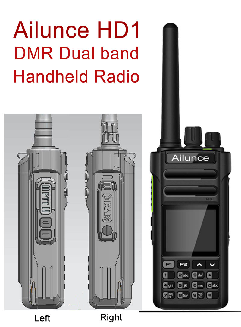 Ailunce HD1 Dual Band DMR Handheld Radio - Retevis Blog