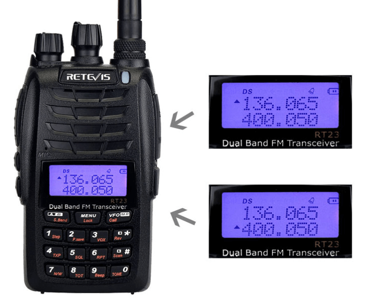 RT23 02 RT23 Cross Band Repeater,Dual PTT, Dual Receiving simultaneously Walkie Talkie