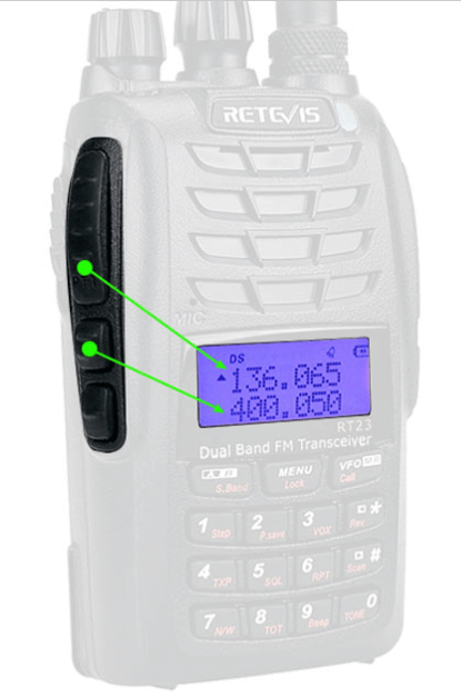 RT23 03 RT23 Cross Band Repeater,Dual PTT, Dual Receiving simultaneously Walkie Talkie