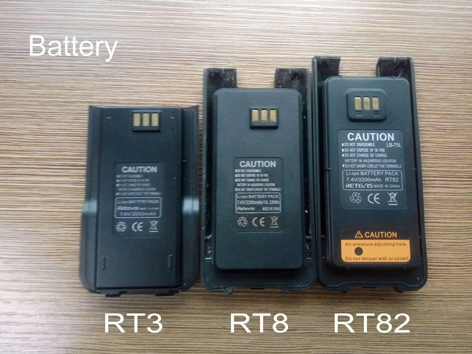 RT3/RT8/RT82 Radio Battery