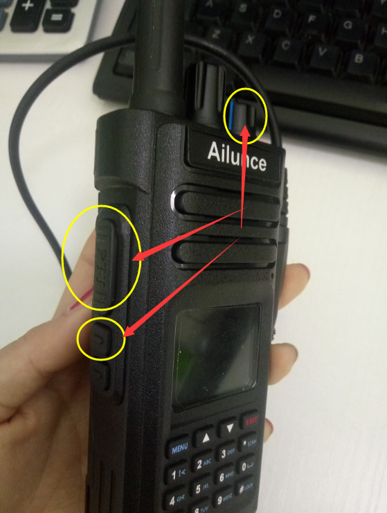 How to upgrade Ailunce Amateur radio HD1 firmware