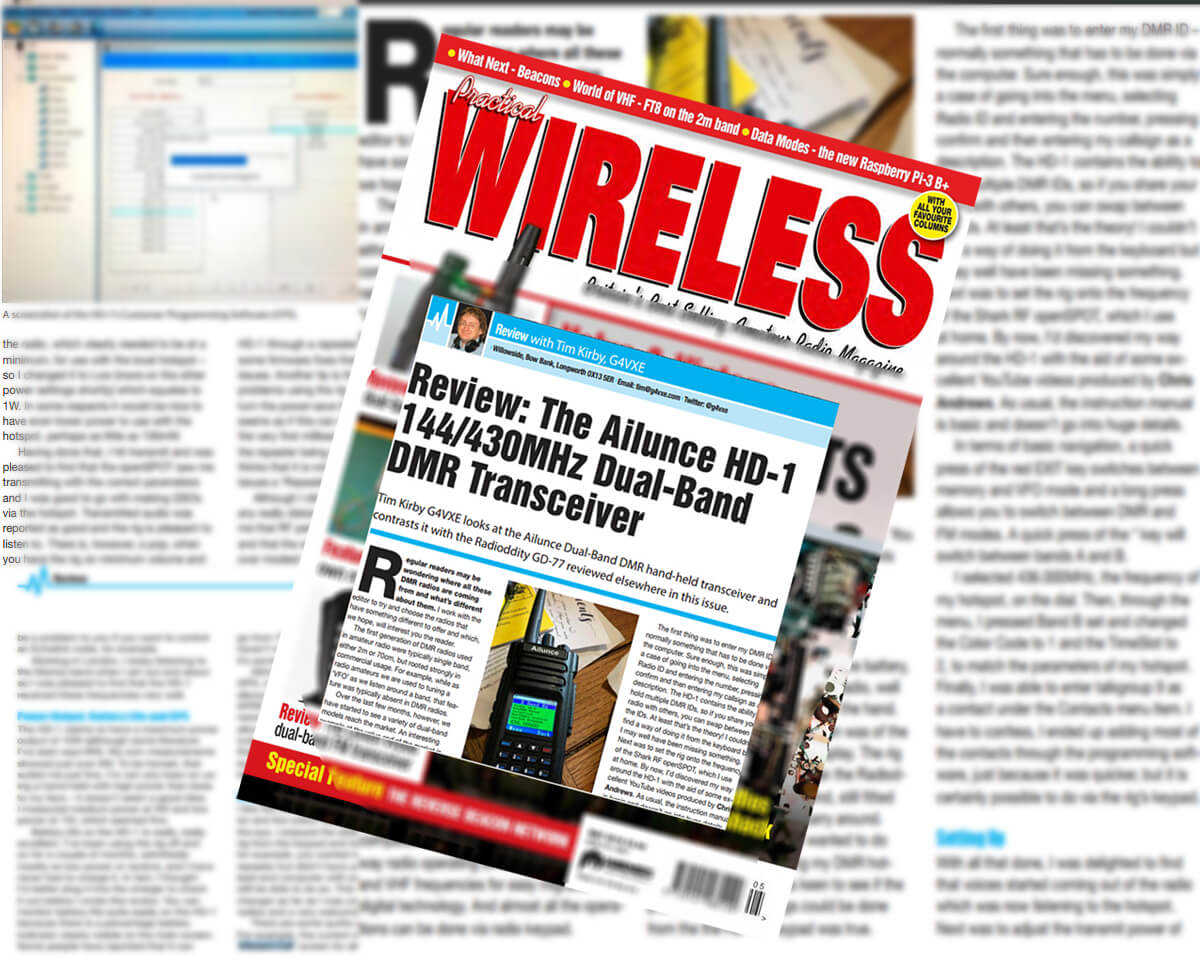 Ailunce HD1 is in the magazine Issue of May, 2018