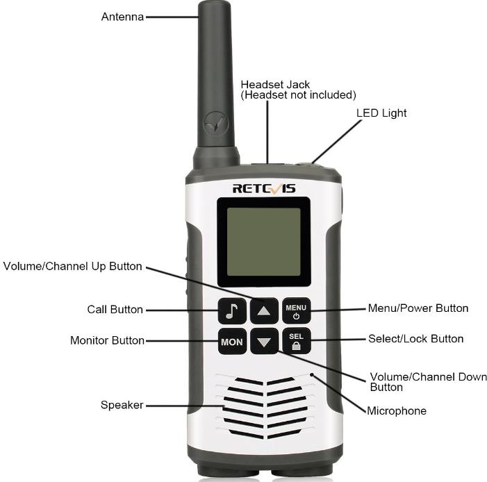 RT45 walkie talkie