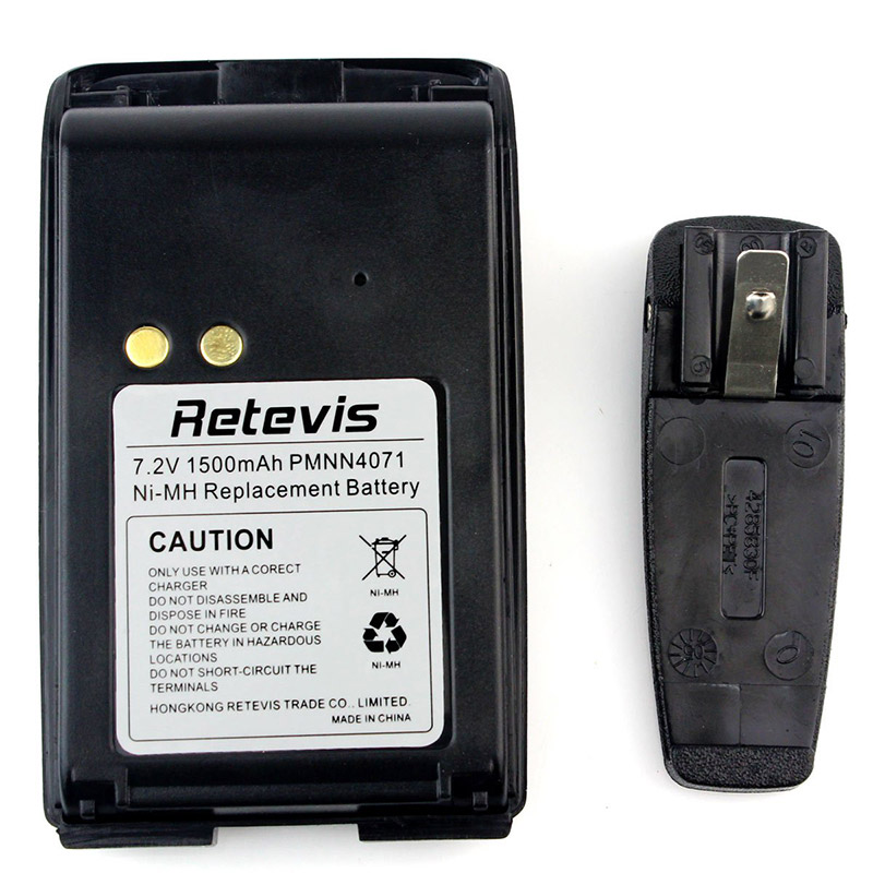 battery with Belt Clip- accessories for Motorola- retevis