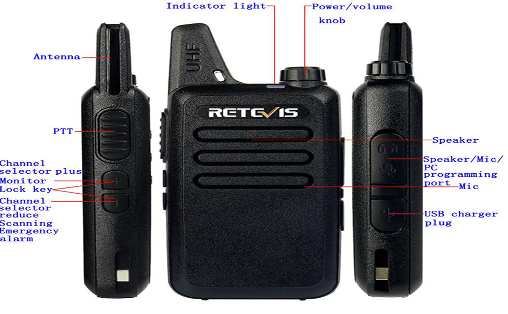 Walkie talkie-retevis Rt22-retevis