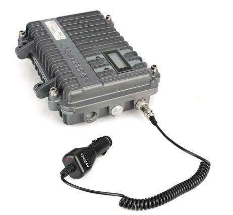 portable analog repeater-car charger