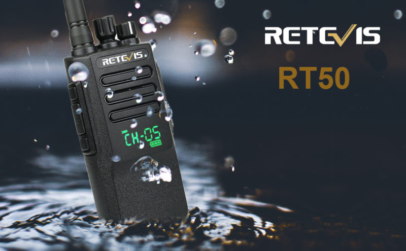 Retevis RT50-Best wateproof walkie talkie for emergency alarm.