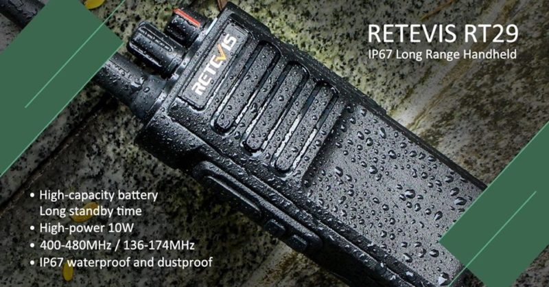 Retevis waterproof walkie talkie RT29