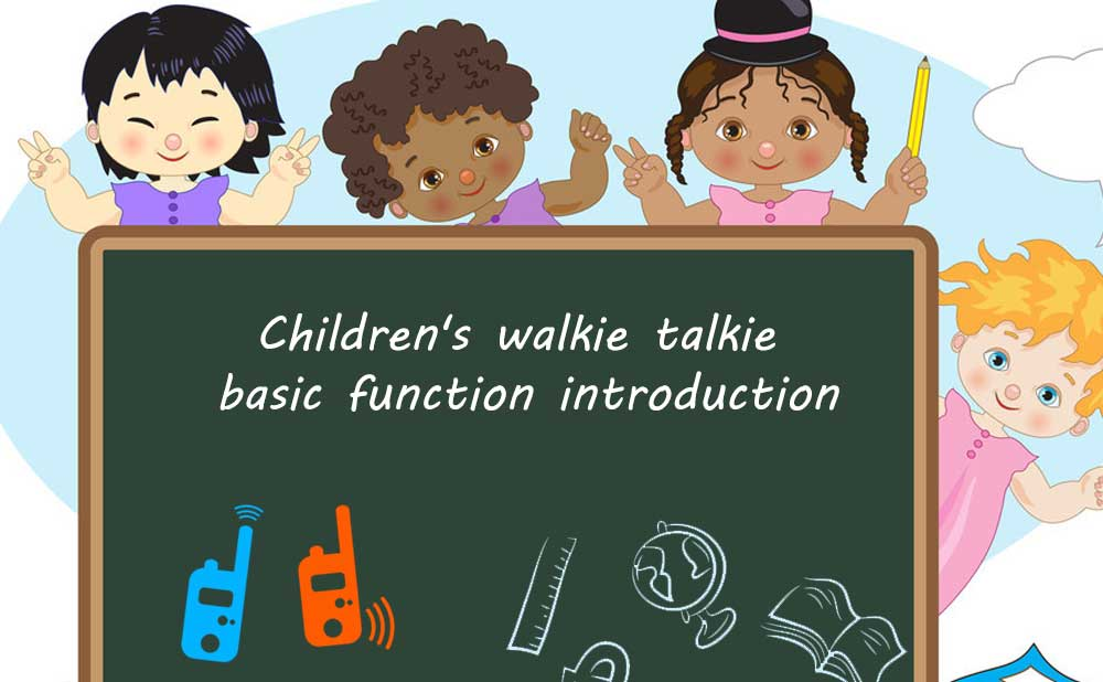 kids walkie talkie basic function