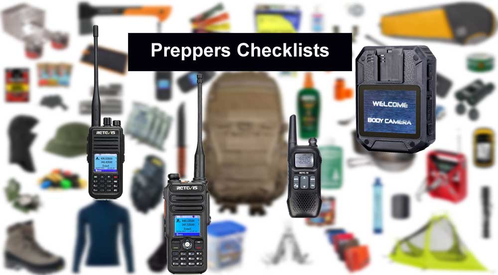 retevis preppers checklists