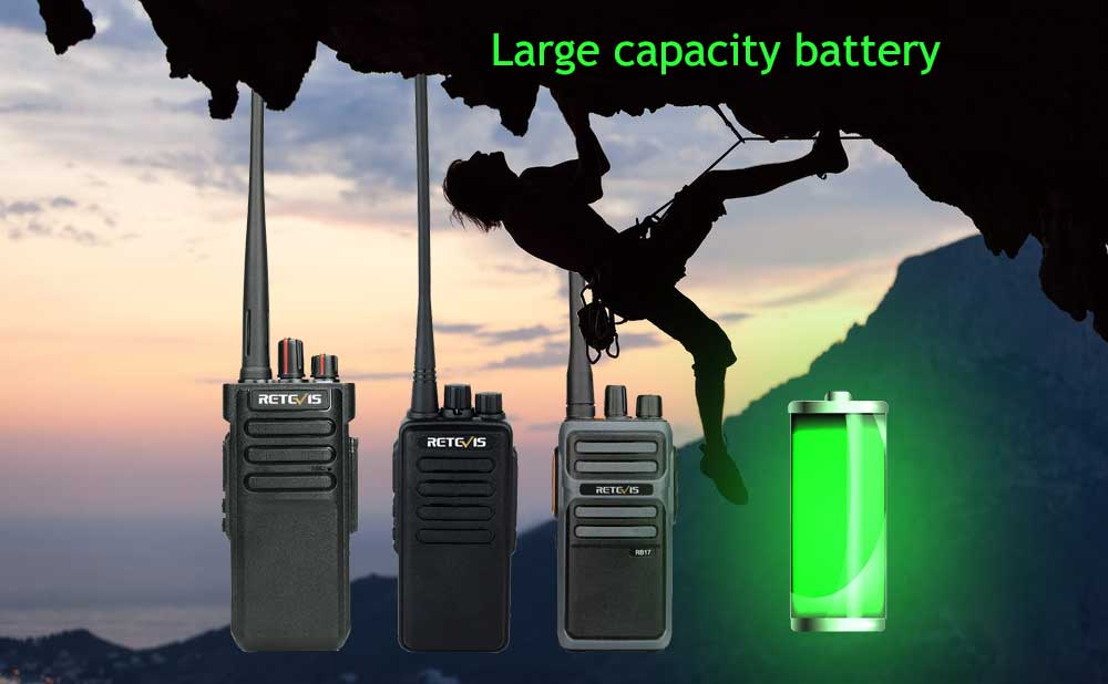 large capacity battery walkie talkie