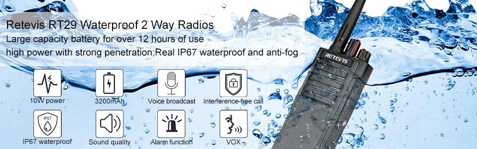 Retevis waterproof radio RT29
