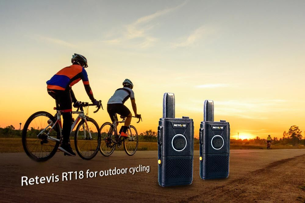 Want to lose weight? The gym is too expensive! What we going to do? Why not take Retevis RT18 license-free radio with your bike, riding bikes with your friends or family!