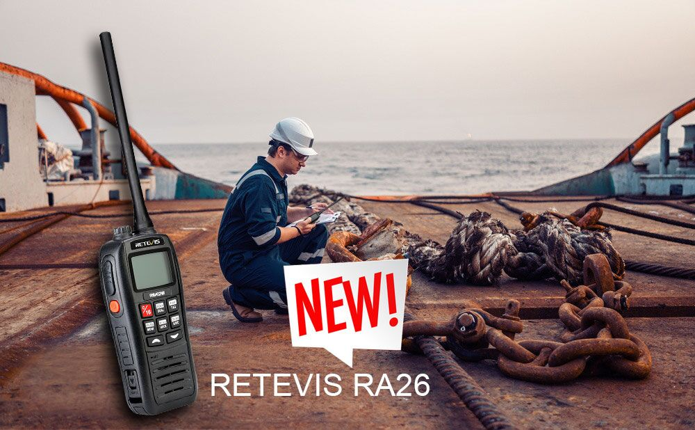 RA26 VHF 88 Channels 5W IP67 Floats Flashes-alarm NOAA Marine Transceiver