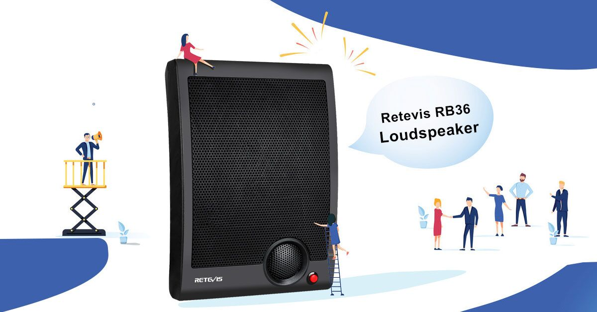 Retevis RB36 Two-way Loudspeaker for your business!