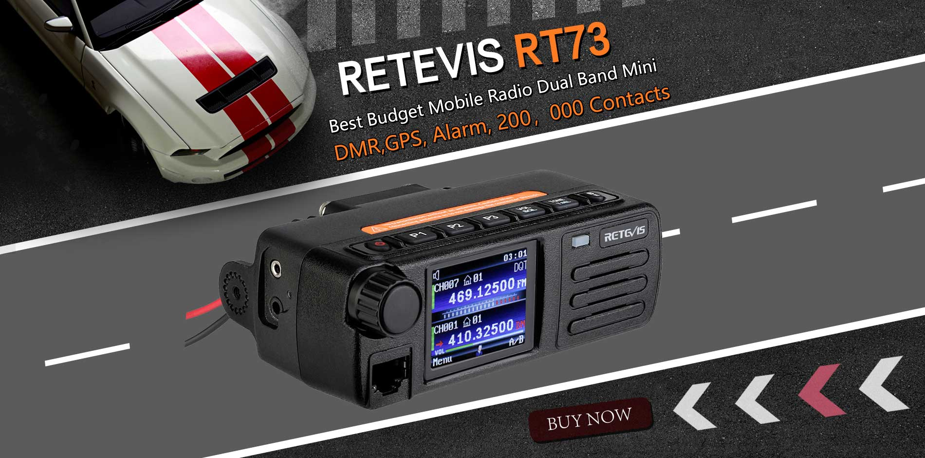 Great road company—— Retevis RT73 DMR Mobile radio!