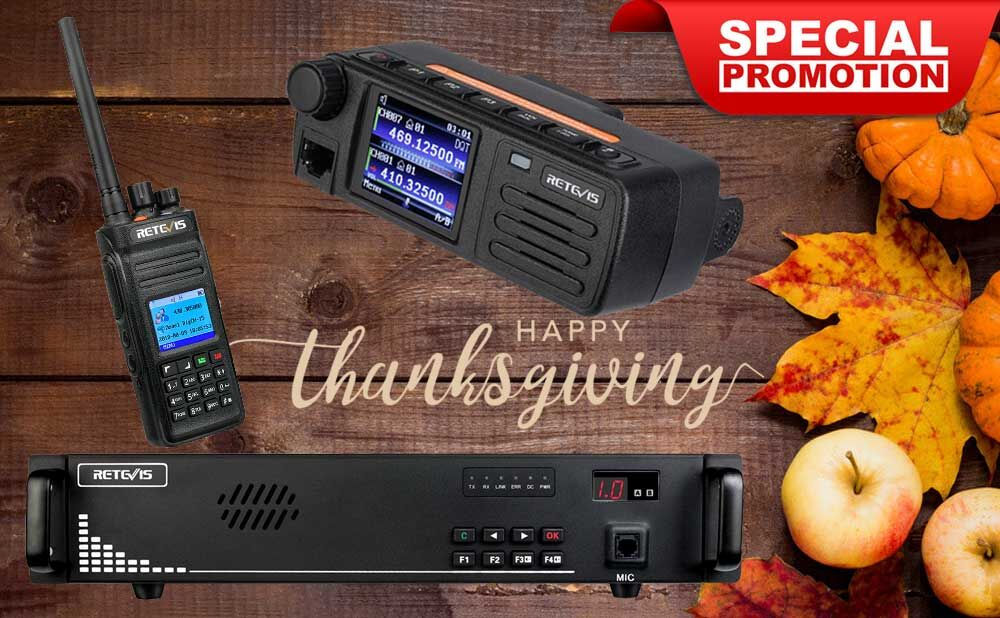 Retevis Thanksgiving Day promotion is coming!