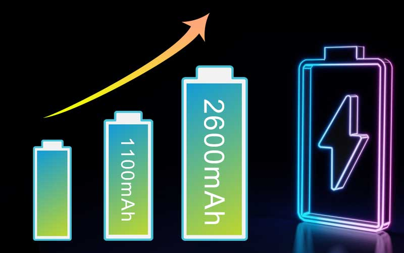 big battery capacity for outdoor hiking