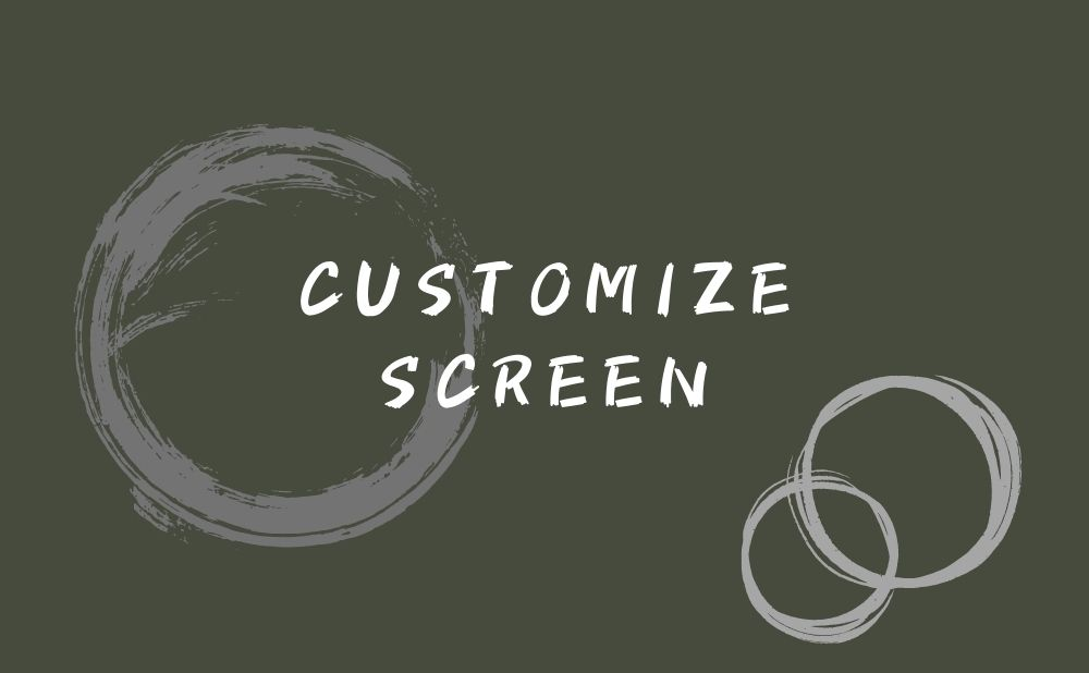 customize power-on screen
